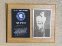 Hall of Fame Plaque: Ron Crowe, Men's Basketball (Forward), Class of 1987