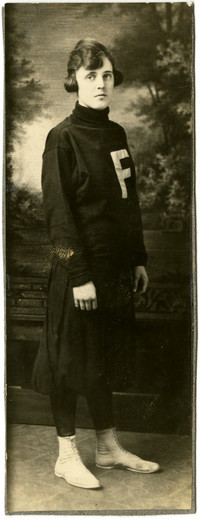 Young woman in Fairhaven High School sports uniform