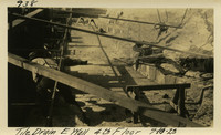 Lower Baker River dam construction 1925-07-10 Tile Drain E. Wall 4th Floor