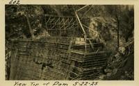 Lower Baker River dam construction 1925-05-22 View Top of Dam