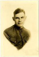 Portrait of Allen Weagent in WWI uniform