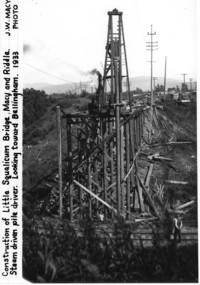 Construction of Little Squalicum Bridge