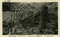 Lower Baker River dam construction 1925-05-31 Wooden Trusses Power House