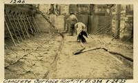 Lower Baker River dam construction 1925-08-24 Concrete Surface Run #198 El.324