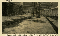 Lower Baker River dam construction 1925-07-20 Concrete Surface Run #167 El.3775