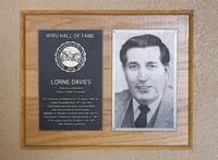 Hall of Fame Plaque: Lorne Davies, Alumnus, Class of 1994