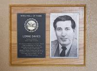 Hall of Fame Plaque: Lorne Davies, Alumnus, Class of 1994