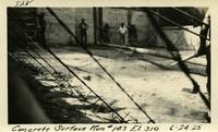 Lower Baker River dam construction 1925-06-24 Concrete Surface Run #143 El.310