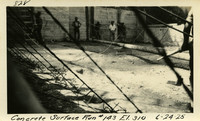 Lower Baker River dam construction 1925-06-24 Concrete Surface Run #143 El.310
