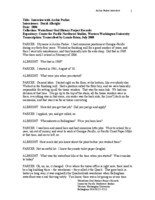 Archie Parker oral history interview (transcript)