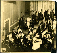 Davenport Engberg Symphony Orchestra - Left half of photograph of seated orchestra