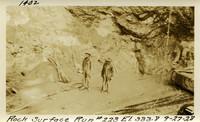 Lower Baker River dam construction 1925-09-27 Rock Surface #223 El.333.8