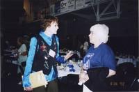 2007 Reunion--Marian Alexander and Marilyn (Wheeler) Bernhardt at the Banquet