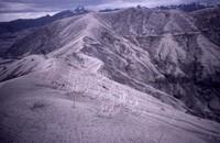 Crest of blast-seared ridge, east of mountain.