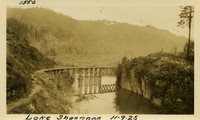 Lower Baker River dam construction 1925-11-09 Lake Shannon (with railroad trestle)