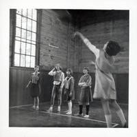 1965 Girls Playing Basketball (Shooting Foul Shot)