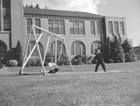 1960 Baseball At Recess