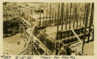 Lower Baker River dam construction 1925-02-15 Forms for Run #16