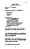 WWU Board minutes 1999 April