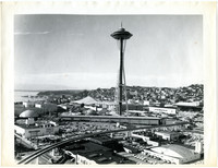 Vista of Seattle Worlds Fair facilities