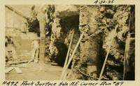 Lower Baker River dam construction 1925-04-30 Rock Surface Hole N.E. Corner Run #89