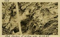Lower Baker River dam construction 1925-06-13 Rock Surface E. of Dam Site