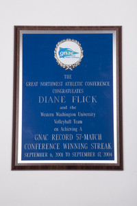 Volleyball (Women's) Plaque: GNAC Record of 57-match conference winning streak, 2001/2004