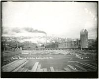 Earles Cleary Lumber Mill with lumber yard in foreground