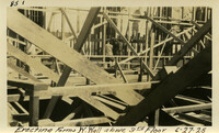 Lower Baker River dam construction 1925-06-27 Erecting Forms W. Wall above 3rd Floor