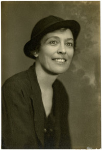 Portrait of unidentified woman