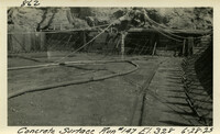 Lower Baker River dam construction 1925-06-28 Concrete Surface Run #147 El.328