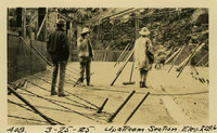 Lower Baker River dam construction 1925-03-25 Upstream Section Elev 228.6
