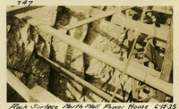 Lower Baker River dam construction 1925-06-15 Rock Surface North Wall Power House
