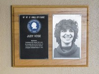 Hall of Fame Plaque: Judy Vose, Badminton, Class of 1977