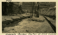 Lower Baker River dam construction 1925-07-20 Concrete Surface Run #167 El.3775