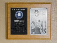 Hall of Fame Plaque: Roger Repoz, Baseball (Pitcher), Class of 1978