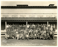 Boston-Okanogan picking and packing crew in front of packing shed