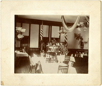 Fairhaven Hotel dining room with Christmas decorations