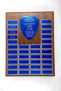 General Plaque: Sam Baker 101 Club Scholar Athlete Award, 2004/2008