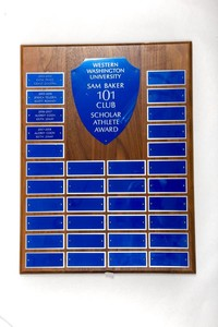 General Plaque: Sam Baker 101 Club Scholar Athlete Award, 2004/2008