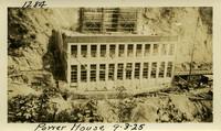 Lower Baker River dam construction 1925-09-03 Power House