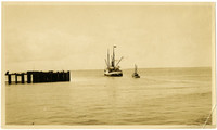 """Fishing vessel """"Uncle John"""" and supply ship """"Norwood"""""""