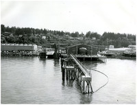 Ferry dock extends from (Alaska State Highway Ferry) terminal, south Bellingham, Washington
