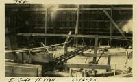 Lower Baker River dam construction 1925-06-16 E. Side N. Wall