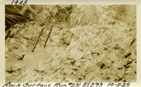 Lower Baker River dam construction 1925-10-05 Rock Surface Run #231 El.293