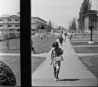 1967 View Outside The Campus Elementary School