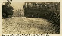 Lower Baker River dam construction 1925-09-07 Concrete Run #212 El.397.5