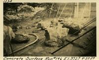 Lower Baker River dam construction 1925-08-22Concrete Surface Run #196 El.372.7