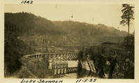 Lower Baker River dam construction 1925-11-05 Lake Shannon (with railroad trestle)