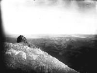Aerial view of unidentified mountain ridges.